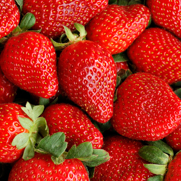 Fresh Ripe Strawberries Full Frame Background